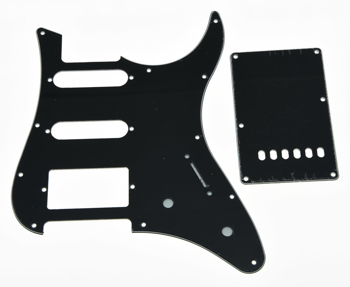 Black 3 Ply Guitar Pickguard w/ Back Plate and Screws fits Yamaha PACIFICA sg standard full face guitar pickguard scratch plate zebra stripe with screws