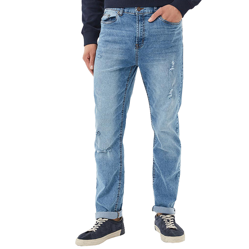 Jeans MODIS M181D00294 men for pants male clothes apparel for male TmallFS 2017 new fashion men s distressed jeans with holes acid washed vintage casual denim pants ripped patch jeans for men size 28 40