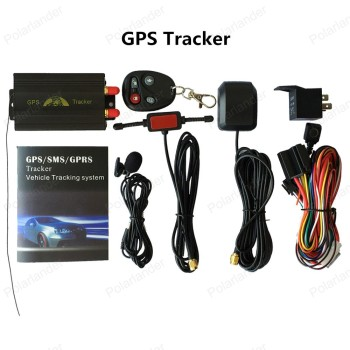 ¡Promoción! Rastreador GPS de coche sistema de GPS GSM GPRS vehículo Tracker localizador TK103B con Control remoto SD tarjeta SIM Anti-robo 1