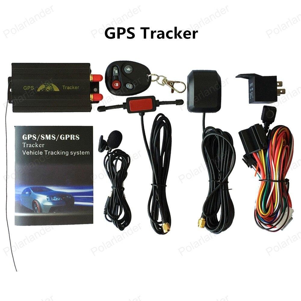 Promotion!!! Localisateur TK103B de traqueur de véhicule de GSM GPRS de système de traqueur de GPS de voiture avec l'anti-vol à télécommande de carte SIM de SD