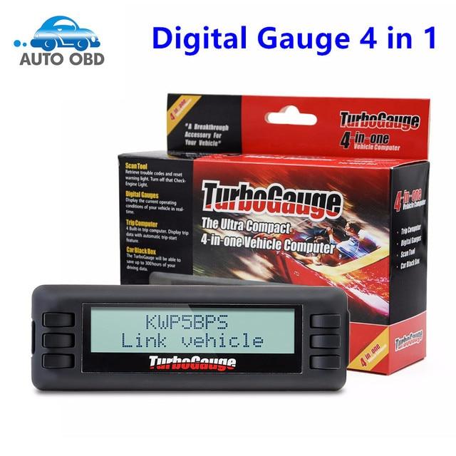 US $48 59 |2017 New TurboGauge IV Auto Trip Computer Scan Tool Digital  Gauge 4 in 1 Automotive Computer Vehicle Monitor-in Pressure & Vacuum  Testers
