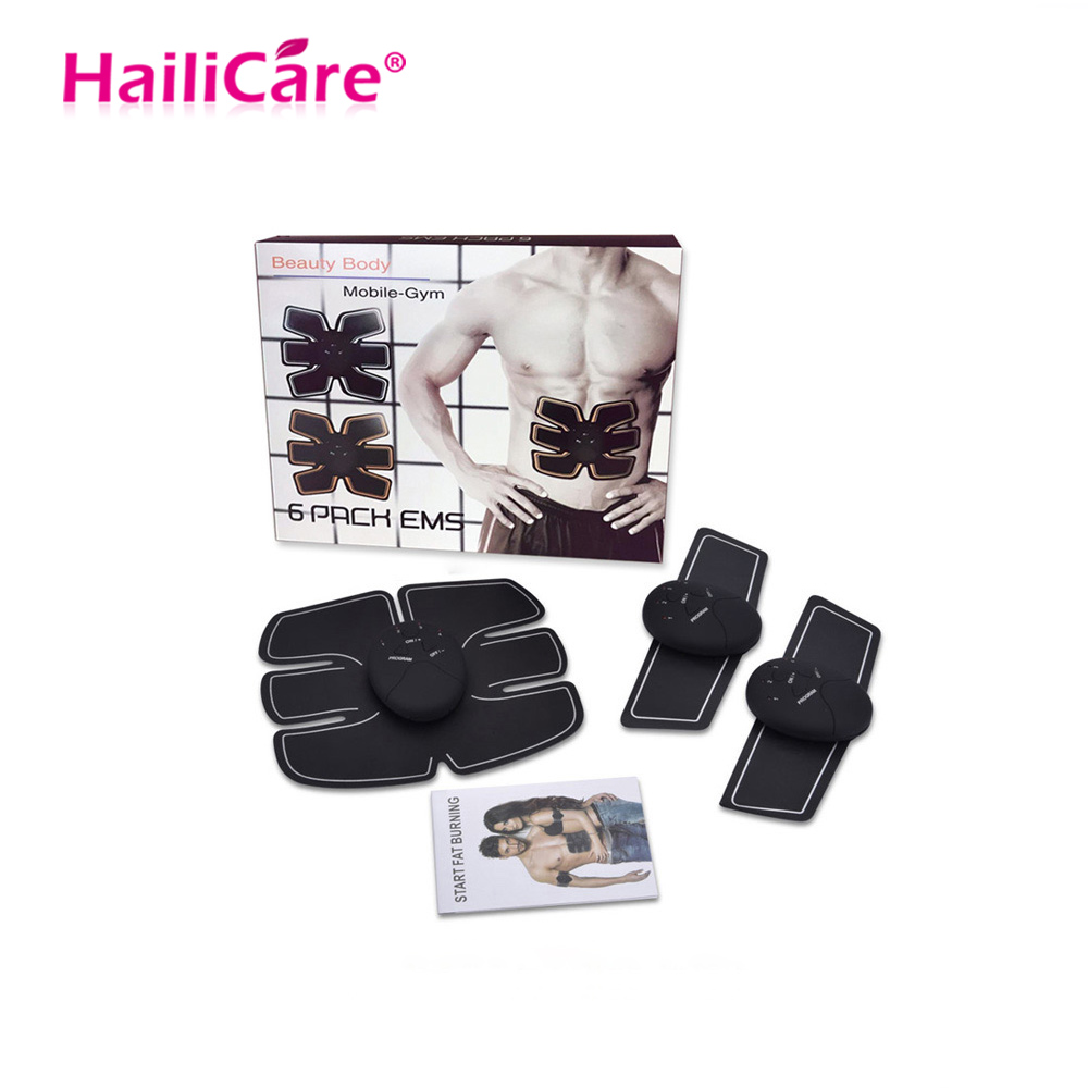 Cuerpo adelgazamiento masajeador EMS entrenamiento muscular estimulador dispositivo Abdominal inalámbrico EMS Gimnasio Profesional casa Fitness belleza equipo