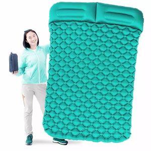 Image 2 - Air Moistureproof Camping Mats Sleeping Pad Inflatable Cushion Outdoor Lightweight Picnic Beach Plaid Blanket Home Rest Air Mats