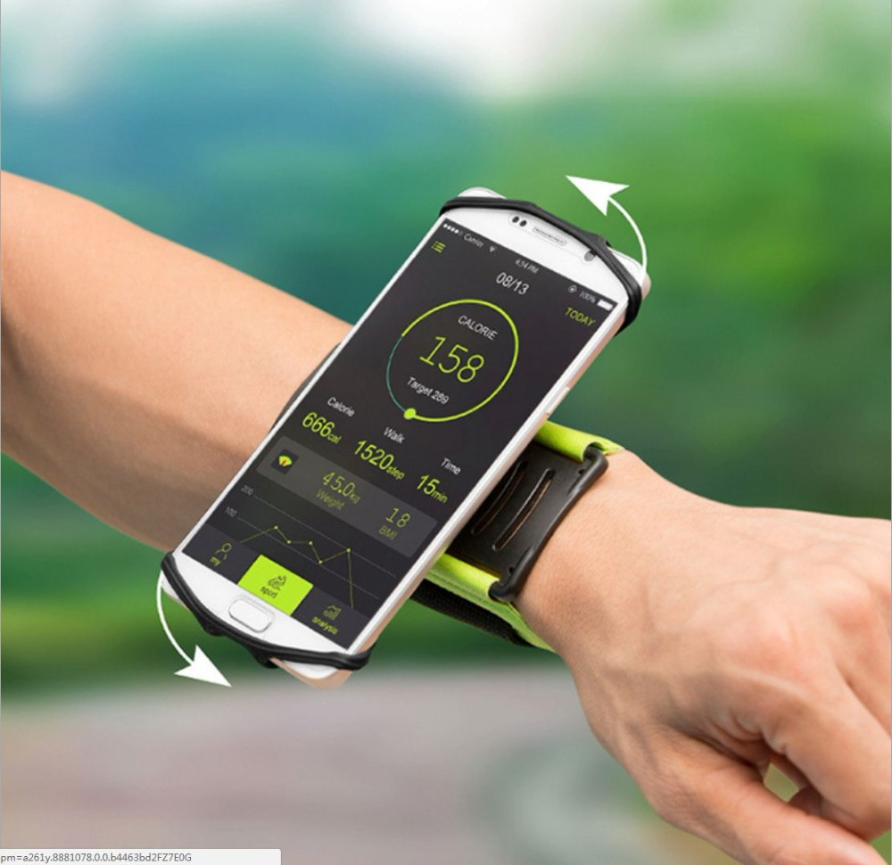 SzBlaZe Professional Rotatable Running Bag Wrist Band Arm cell phones Holder Sport pocket accessories For Gym Fitness Jogging 18