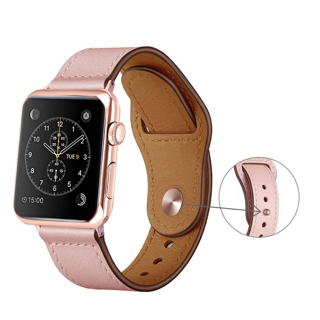 Sports Leather Loop Strap for Apple Watch Band 4 42mm 38mm Watchband for iwatch 44mm 40mm Series 3/2/1 Bracelet Belt Accessories 1