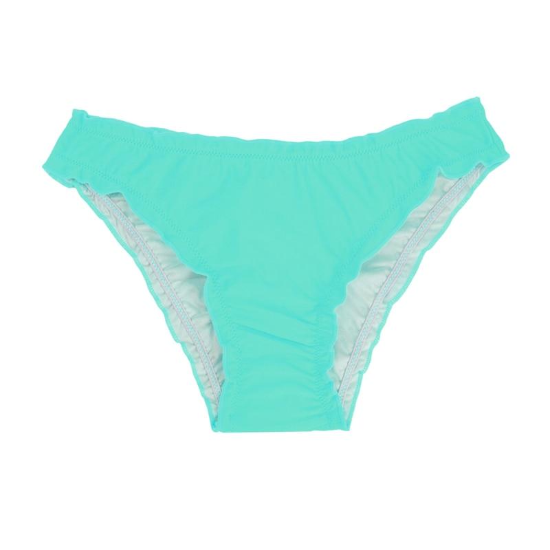 Женский купальник с низкой талией бикини снизу микро Chiffons печати двух частей отделяет плавки сексуальные купальник женский летний B607 - Цвет: B607F