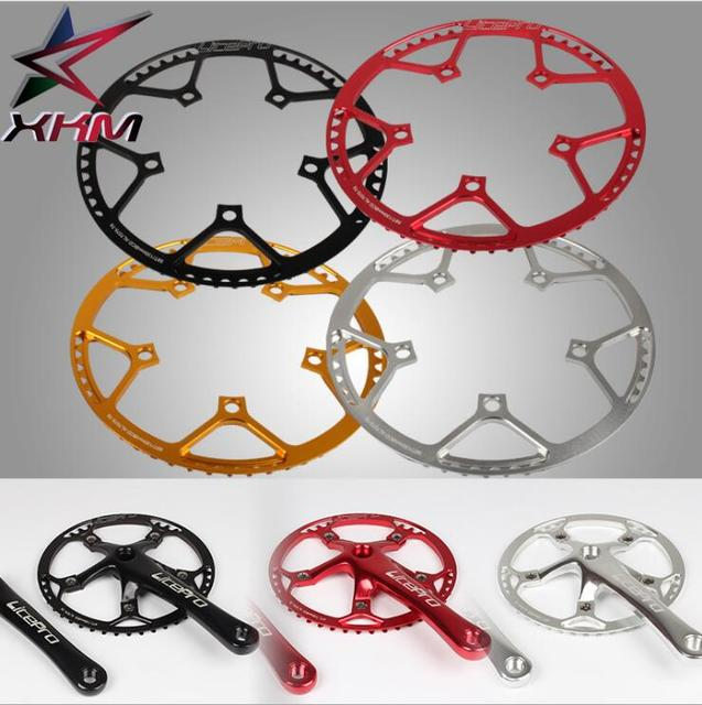 Litepro Single speed 130BCD Folding bike Crankset BMX Chainwheel 45T/47T/53T/56T/58T  AL7075 chain wheel 170mm Crank chain ring