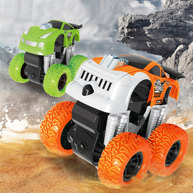 Fashion Toy Inertia Four Wheel Drive Off Road Vehicle Child Simulation Model Car Anti Falling Baby Kid S Toys F4