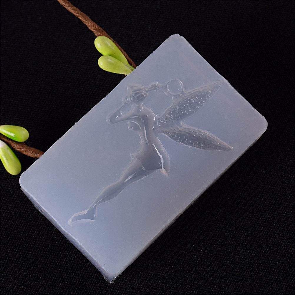 Angel Girl Flower Fairy Shape DIY Craft Silicone Mould Jewelry Key Chain Making Mold Epoxy Resin Mold DIY Resin Decorative Craft