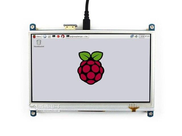 Waveshare 7 дюймов HDMI LCD 1024*600 Резистивный Сенсорный ЖК-Экран HDMI Интерфейс для всех изменений Raspberry Pi