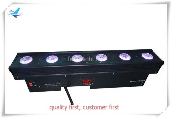 (2/лот) LED световой эффект с батареей 6X18 Вт 6 в 1 светодиод УФ мерцающий свет шайбы стены питание от аккумулятора светодиодный освещения