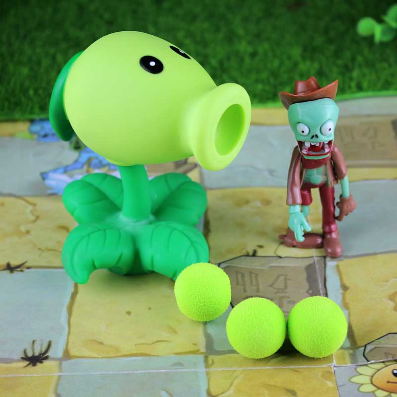 Plants vs Zombies PVC Action Figures Toy PVZ Plant + Zombies Figures Toys For Children Packaging In Opp Bag