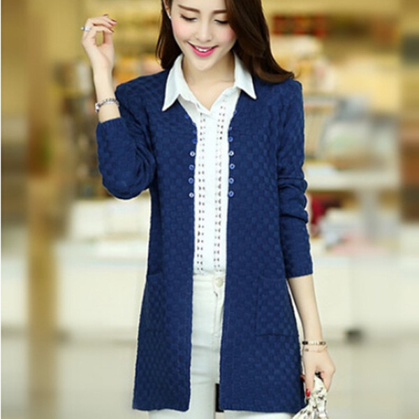 Women Cardigan Sweater 2017 Fashion Korean Style Cashmere Long ...