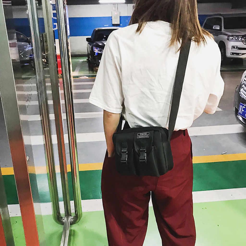 2019 Novas Mulheres Da Moda Coringa Bonito Saco Do Mensageiro Dos Homens Da Lona Neutro BagBag Ombro Saco Pequeno Quadrado de Luxo Genuíno 50