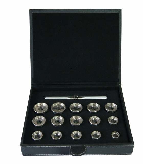 15pcs  Stainless Steel Watch Case Opener Tool Set for  BreitlingWatch Case Removing