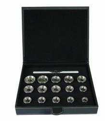 Caja de reloj de acero inoxidable de 15 Uds.