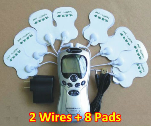 Christmas Gift 8pads Health Care Digital Tens Acupuncture Therapy Machine Massage Slimming Body Musle Sculptor Massager Cupping