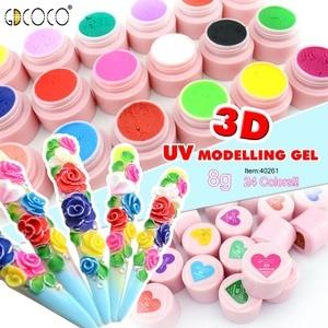 Image 2 - GDCOCO 3D гель для рисования ногтей, УФ светодиодный гель для моделирования