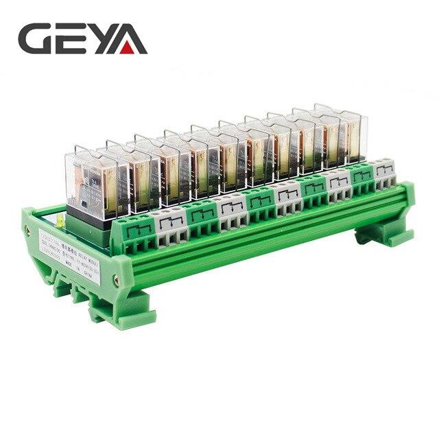 GEYA NG2R Omron Relay Module 10 Channel 12VDC 24VDC for PLC ProtectionGEYA NG2R Omron Relay Module 10 Channel 12VDC 24VDC for PLC Protection