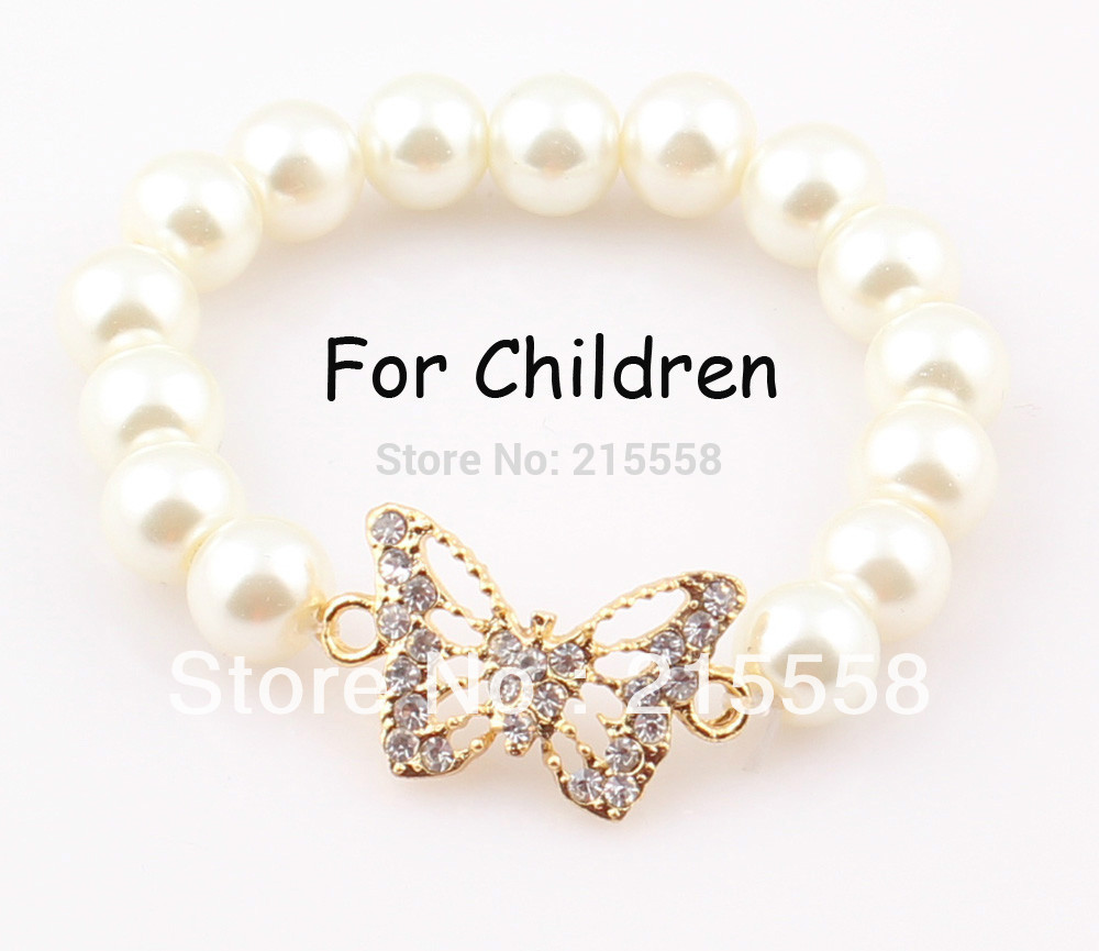 Erfly Children Sideways Bracelet Bangle Simulated Pearl Fox Elastic Kids Baby Feal In Strand Bracelets From Jewelry Accessories On