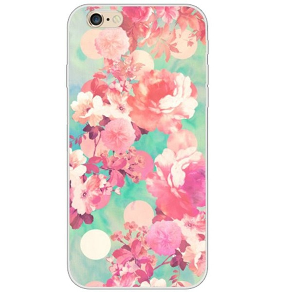 Hot salling multicolor animal plant fruit flowers soft tpu protective back cover case for iPhone 5 5s se phone case03
