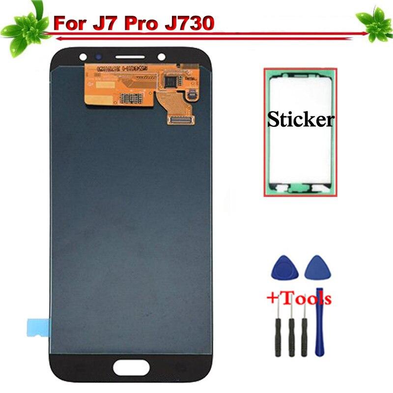 Remplacement pour Samsung galaxy J7 pro 2017 J730 écran tactile LCD assemblée complète pour Samsung galaxy J7 pro J730F LCD