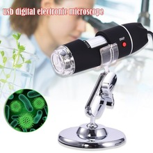 8 LED Light Digital Microscope USB 1600X Endoscope Camera Microscopio Magnifier Electronic Monocular Microscope With Stand цены