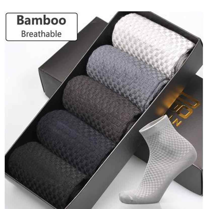 New Arrival Comfortable Men Bamboo Fiber Socks Casual Business Popular Comfortable Anti-Bacterial Socks Moistureproof Sokken Sox