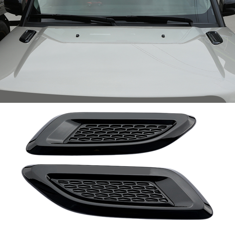 2Pcs ABS plastic Air Vent Outlet Cover Trim For Discovery 4 Range Rover Evoque Car-styling carbon fiber style abs plastic for land rover range rover evoque 12 17 center console gear panel decorative cover trim newest