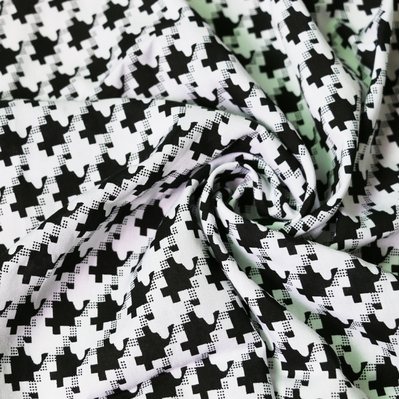 Us 8 78 12 Off Black White Houndstooth Fabric Rayon Cotton Poplin In From Home Garden On Aliexpress 11 Double Singles Day