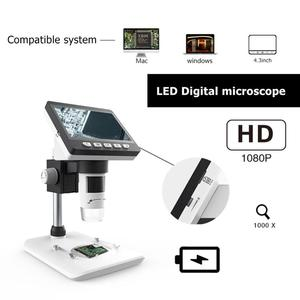 Image 4 - 1000X4.3 Inch Digital Microscope HD 1080P Electronic Desktop Soldering LCD Magnifier Magnify Glass Set Support 10 Languages