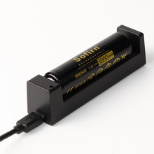 3000 mAh 18650 battery with USB charger for flashlight unprotected 18650 battery