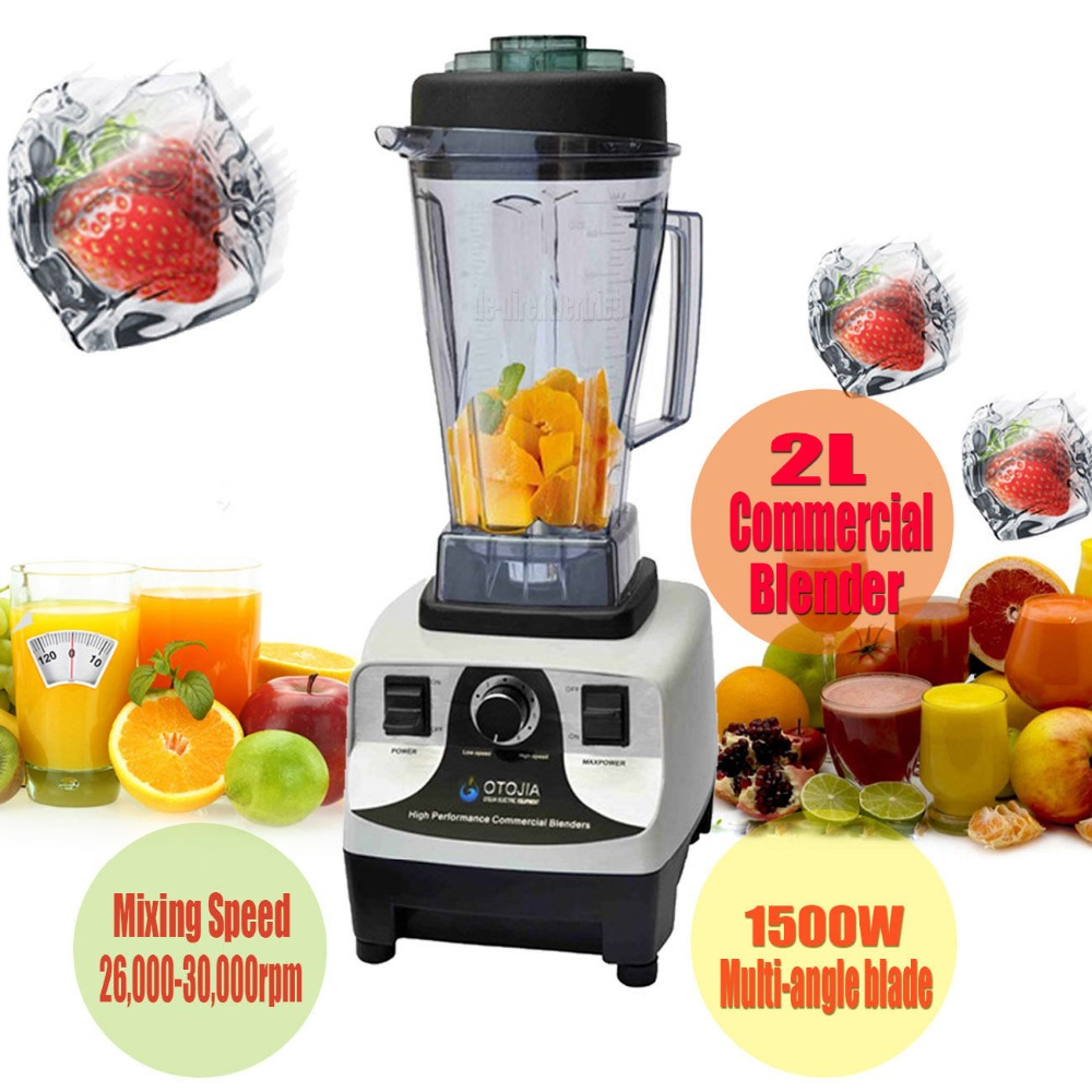 (Ship from AU) 1500W 2L Multi-Function Food Juice Blender Mixer 26,000-30,00 rpm Commercial glantop 2l smoothie blender fruit juice mixer juicer high performance pro commercial glthsg2029