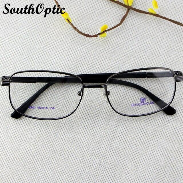 Металлический сплав прямоугольный весь рим конструкция рамы марка очки очки рецепт RX плюс минус зрелище оптических оправ A907