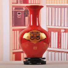 Jingdezhen ceramic wedding celebration Chinese porcelain vase porcelain modern fashion home decoration flower vase