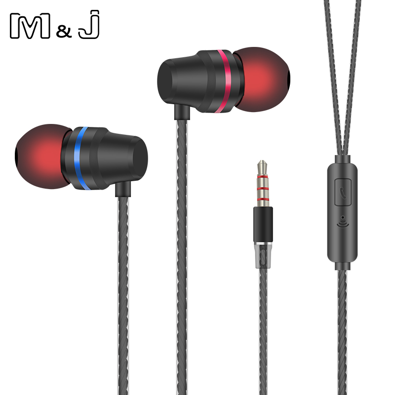 M & J V1 Spuer High Heavy Bass Extra In Ear Auricolare Clear Sound Con Mic Auricolari Per IPhone 5 6 Sumsang Xiaomi DM1