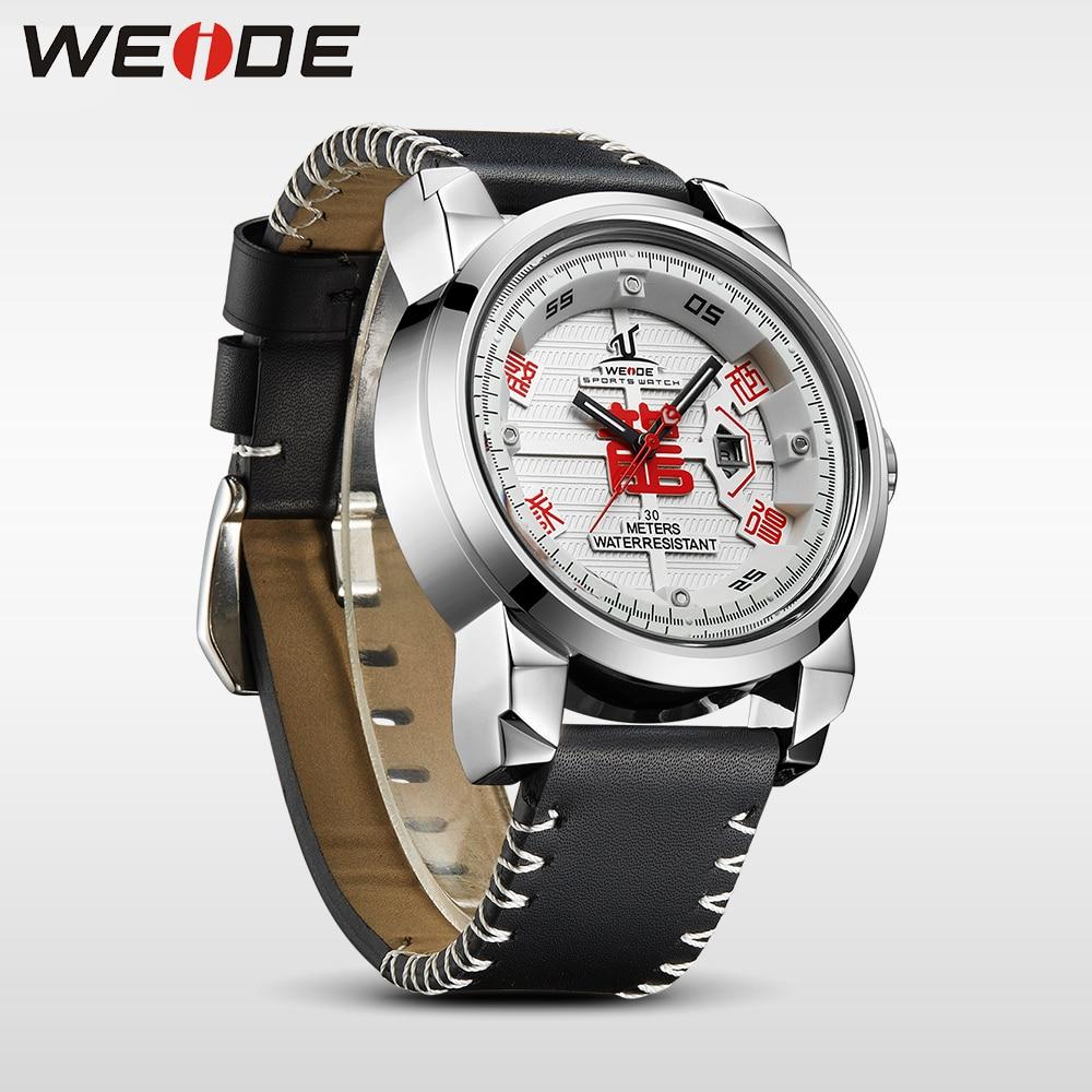 WEIDE Marca de Relojes para Hombre 30 Correa de Cuero de Alta Calidad - Relojes para hombres - foto 3