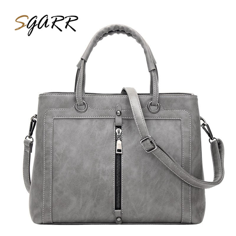 SGARR Handbag Women PU Leather Large Capacity Casual Tote Bag Luxury Designer Ladies Shoulder Bags High Quality Messenger Bags