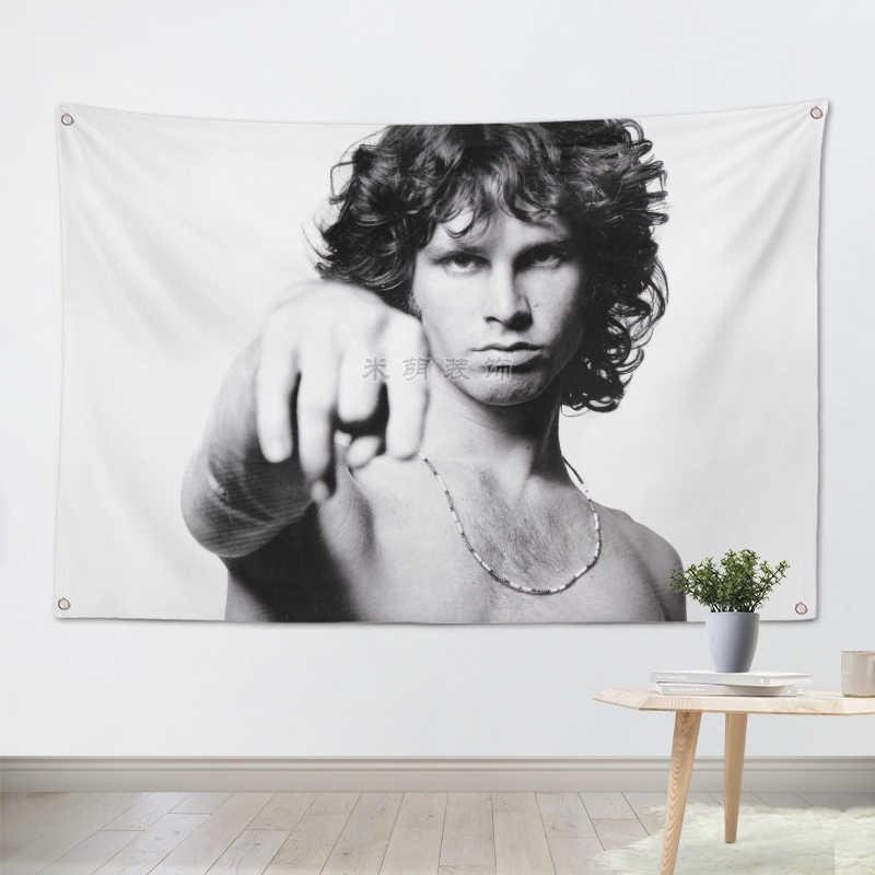 JIMI MORRISON большой размер Рок-Группа Знак Ретро плакат 56X36 дюймов HD баннеры флаги Ткань Искусство гостиная студия Декор