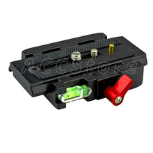Durable Anti-slip Liga de Alumínio Quick Connect Adaptador & Prato de Liberação Rápida Manfrotto 701HDV 501 500AH Compat 503HDV Q5-402