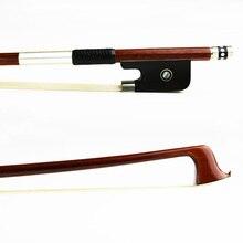 Расширенный 4/4 размеры Пернамбуку струна для скрипки круглый Стик Ebony Лягушка натуральный монгольский конского волоса быстро отклик альты запча