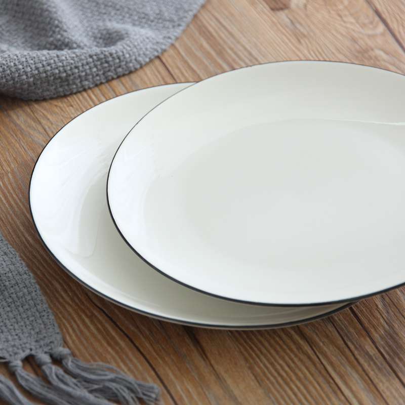 1 PC Ceramic 8 Inch Round White Plate On glazed Porcelain Tray Hotel Home Dinnerware Steak Rice Fruit Dish Simple Tableware-in Dishes u0026 Plates from Home ... & 1 PC Ceramic 8 Inch Round White Plate On glazed Porcelain Tray Hotel Home Dinnerware Steak Rice Fruit Dish Simple Tableware-in Dishes u0026 Plates from ...