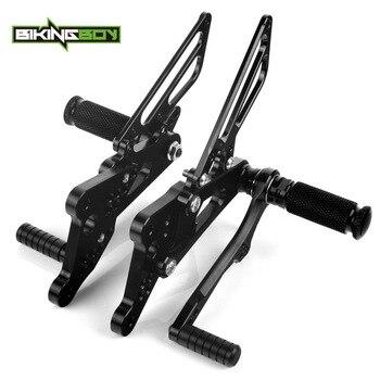 BIKINGBOY Foot Pegs Rests Rear Sets for Yamaha YZF R6 03 04 05 06 07 08 09 10 11 12 13 14 15 16 Rearsets Adjustable Racing CNC