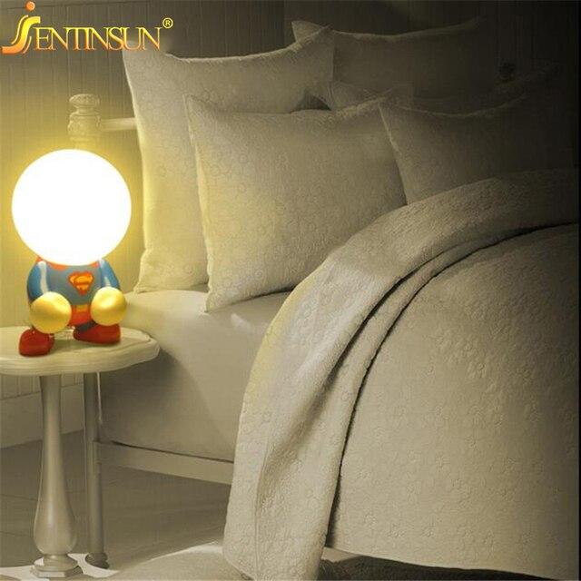 Творческий Симпатичные Супермен Бэтмен Перезаряжаемый Светодиодный Настольная Лампа Home Decor Night Light для Детей Дети спальня Лампа