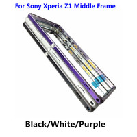 Original For Sony Xperia Z1 L39h C6903 Middle Frame Housing Bezel Middle Metal Side Plate Replacement Part White/Black