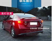 Car styling ABS car exterior with light painted tail fins For 2017 2018 Mazda Axela 2016 Mazda 3