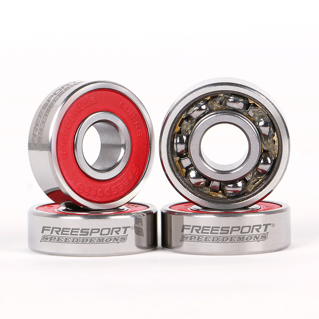 FreeSport 608Rs Pre lubricated Full Steel Skate Bearings Slience For inline Skates Skateboard Scooter Wave board caster board