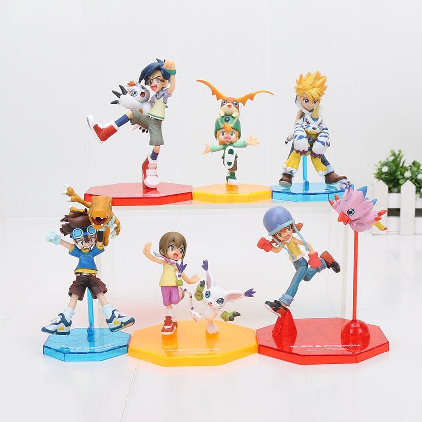 11cm Digital Digimon Figure ISHIDA YAMATO Gabumon Yagami Taichi Sora Agumon PVC Action Figure Digimon Colletion Model Toy