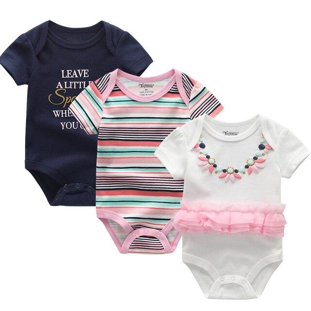 3 Pcs/lot Pakaian Bayi 0-12M 2
