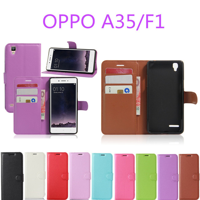 For Oppo A35 F1 Case Wallet Style Pu Leather Case For Oppo F1 A35